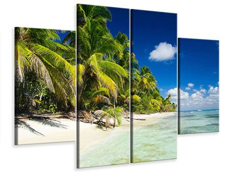 Leinwandbild 4-teilig Die einsame Insel