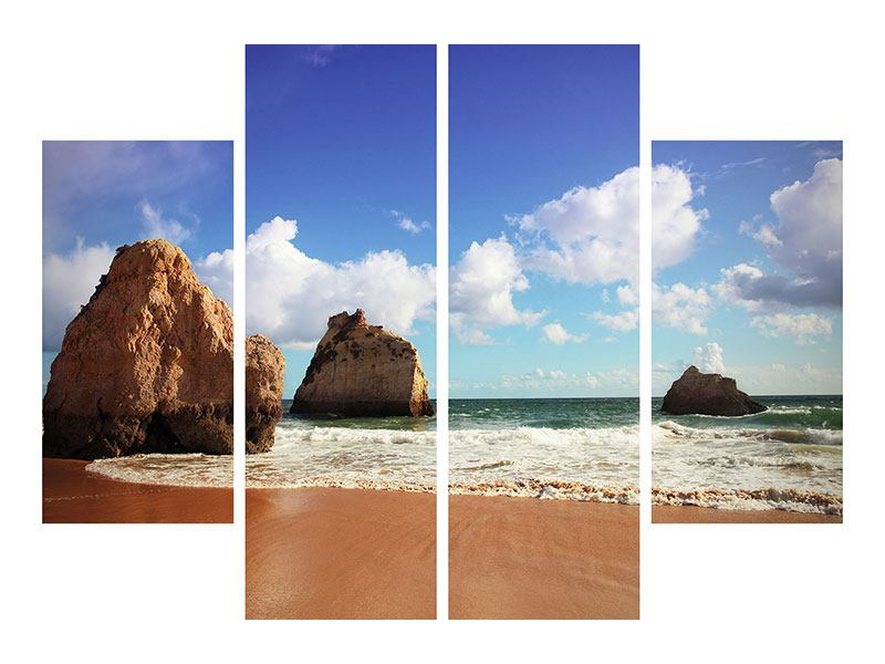 Leinwandbild 4-teilig Strandgedanken
