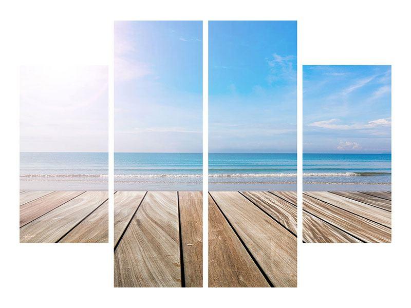 Leinwandbild 4-teilig Das schöne Strandhaus