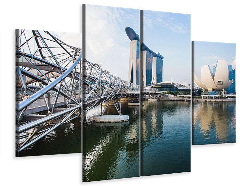 Leinwandbild 4-teilig Singapur