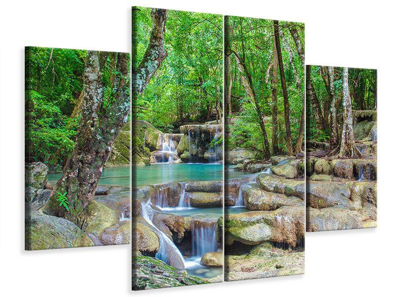 Leinwandbild 4-teilig Wasserspektakel