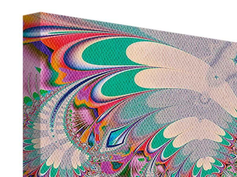 Leinwandbild 4-teilig Fraktal Design