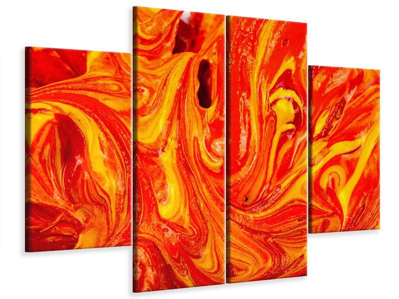 Leinwandbild 4-teilig Wandgemälde