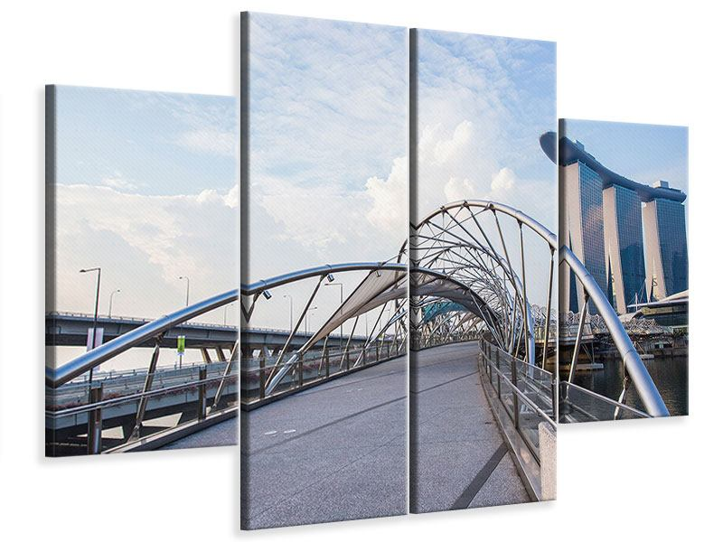 Leinwandbild 4-teilig Helix-Brücke