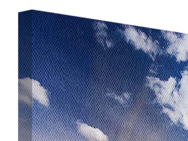 Leinwandbild 4-teilig Sonnenaufgang im Gebirge