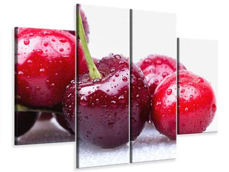 Leinwandbild 4-teilig Kirschen