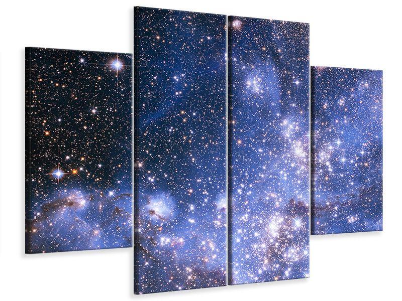 Leinwandbild 4-teilig Sternenhimmel