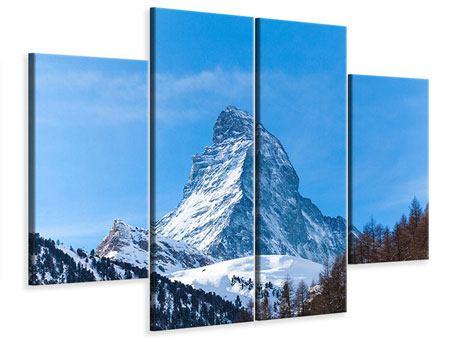 Leinwandbild 4-teilig Das majestätische Matterhorn