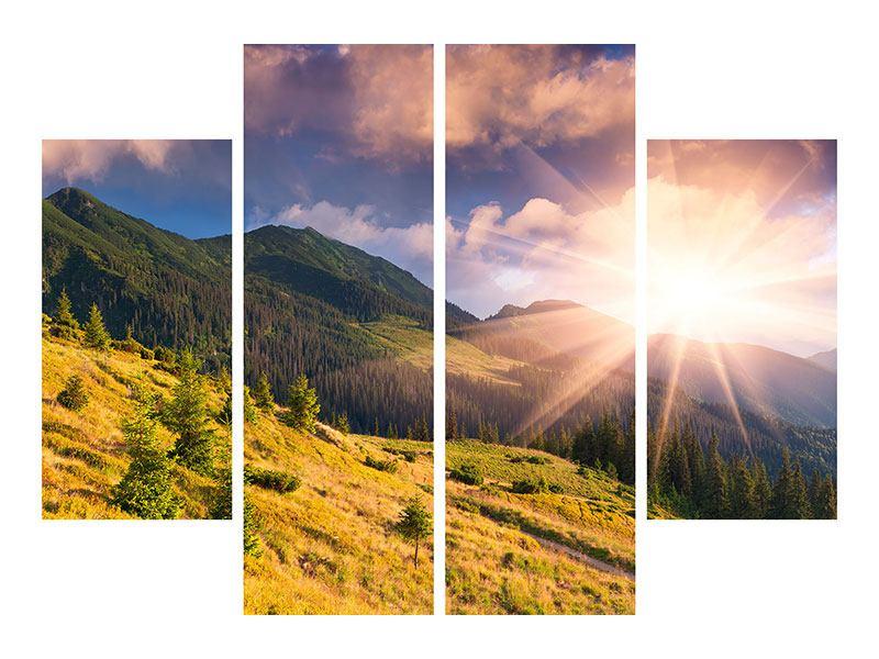 Leinwandbild 4-teilig Herbstanfang
