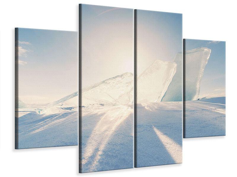 Leinwandbild 4-teilig Eislandschaft