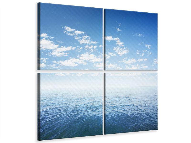 Leinwandbild 4-teilig Unendlichkeit Meer