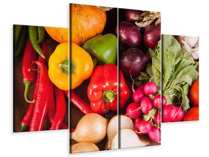 Leinwandbild 4-teilig Gemüsefrische