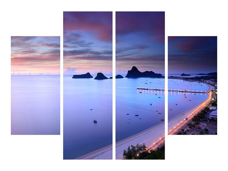 Leinwandbild 4-teilig Ano Manao Bucht