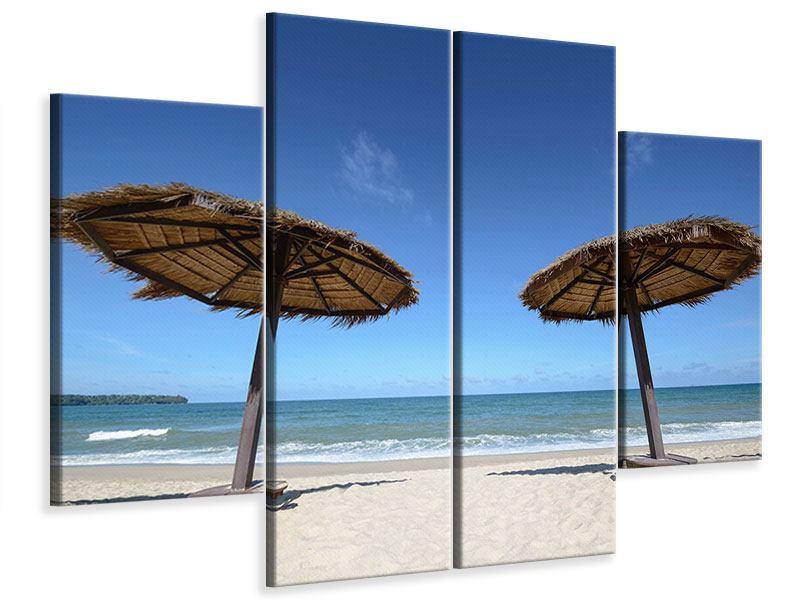 Leinwandbild 4-teilig Umbrellas