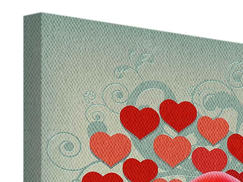 Leinwandbild 4-teilig Rote Lippen soll man küssen