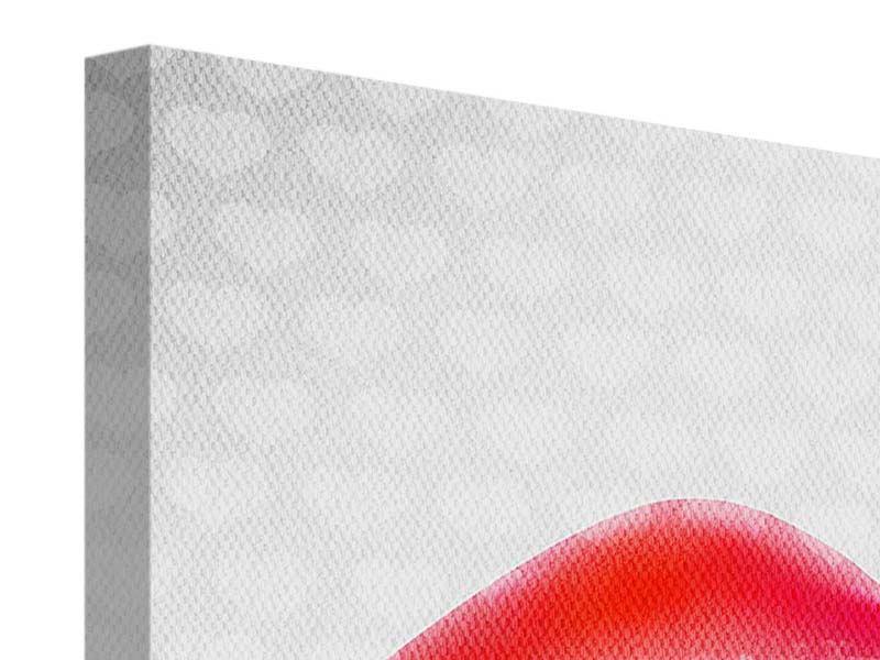 Leinwandbild 4-teilig Kuss