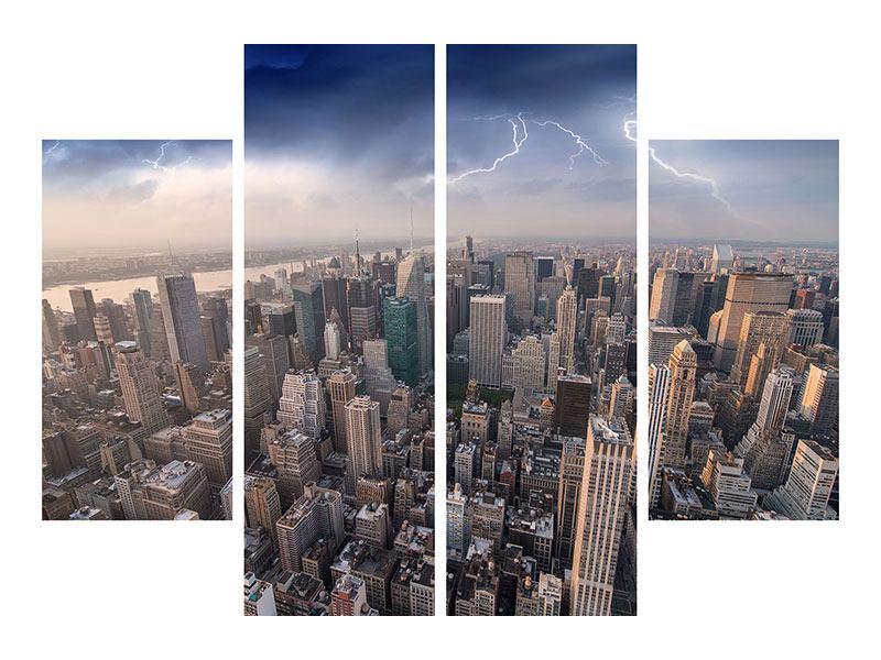Leinwandbild 4-teilig Manhattan