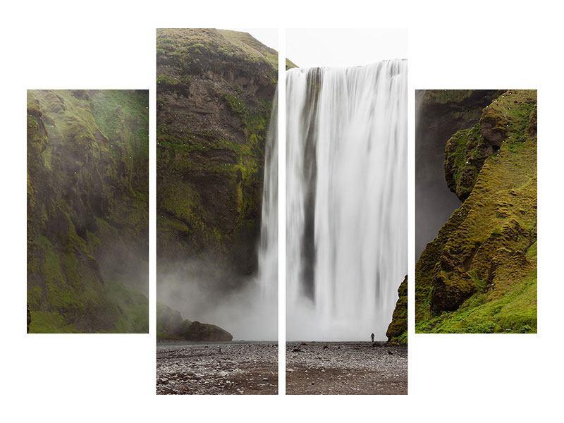 Leinwandbild 4-teilig Skogafoss