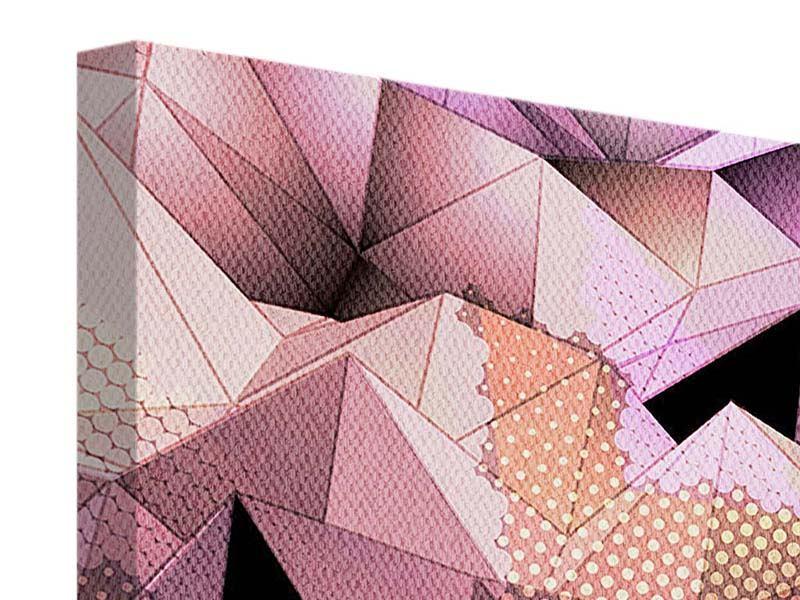 Leinwandbild 4-teilig 3D-Kristallstruktur