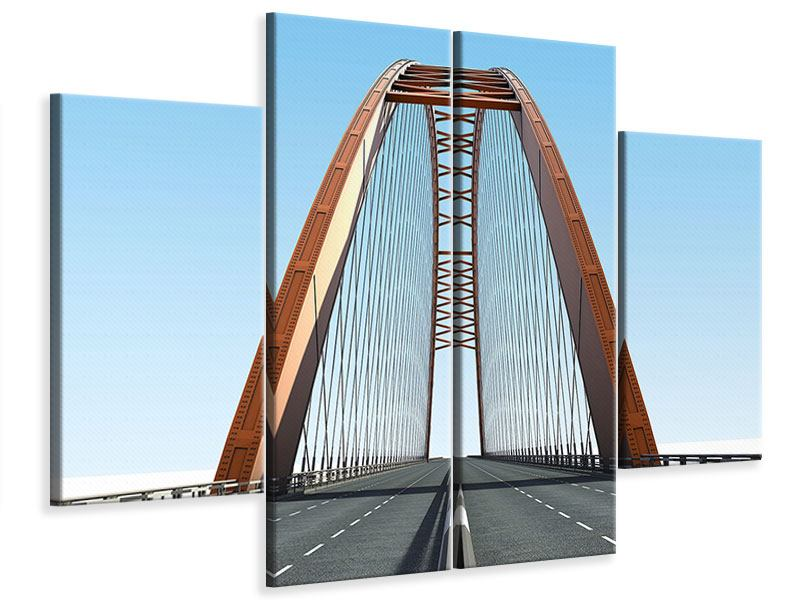 Leinwandbild 4-teilig Brückenpanorama