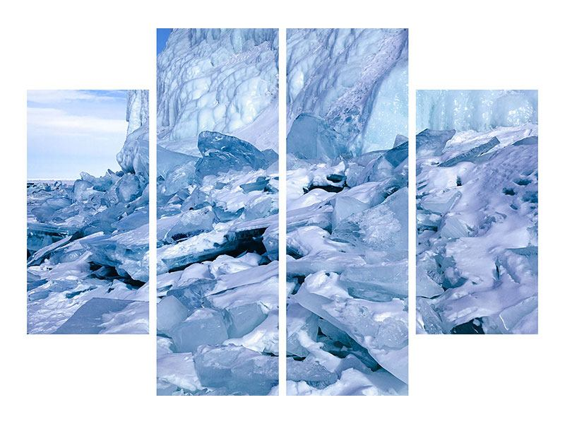 Leinwandbild 4-teilig Eislandschaft Baikalsee