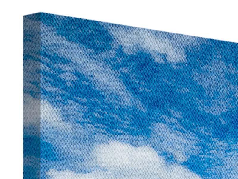 Leinwandbild 4-teilig Hoch über den Wolken