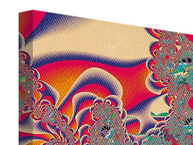 Leinwandbild 4-teilig Psychedelische Kunst