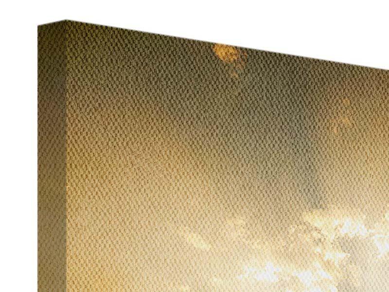 Leinwandbild 4-teilig Mystischer Sonnenuntergang