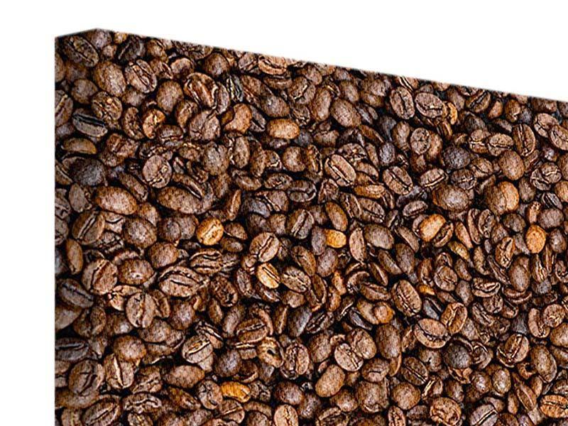 Leinwandbild 4-teilig Kaffeebohnen
