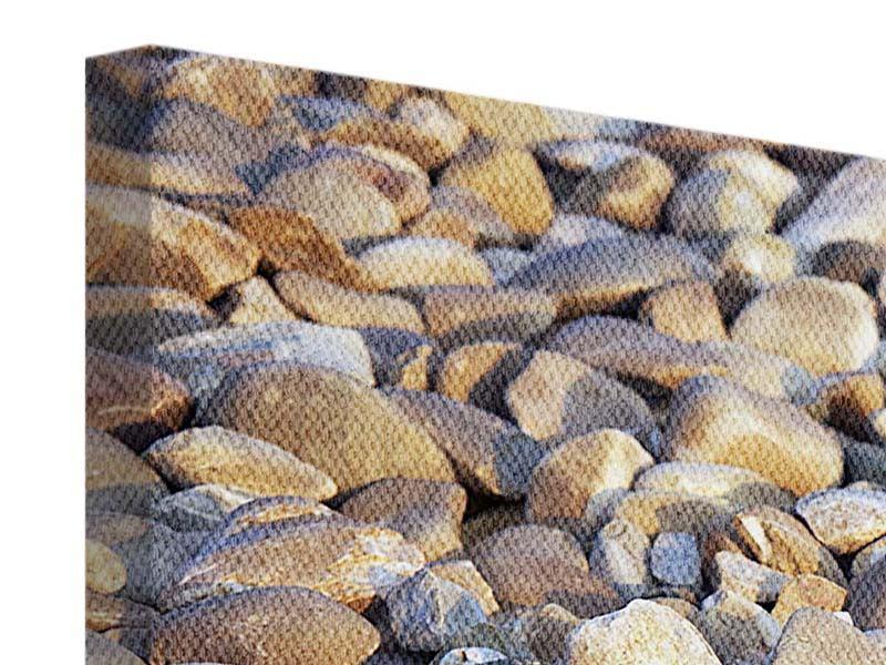 Leinwandbild 4-teilig Strandsteine