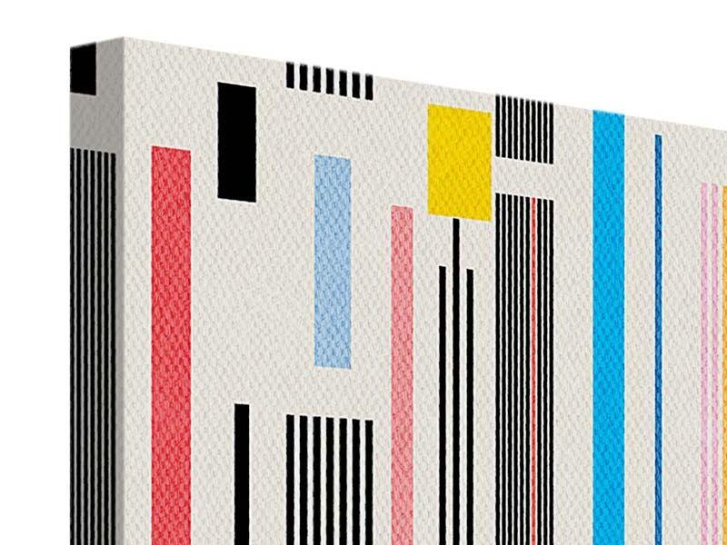 Leinwandbild 4-teilig Grafische Streifen