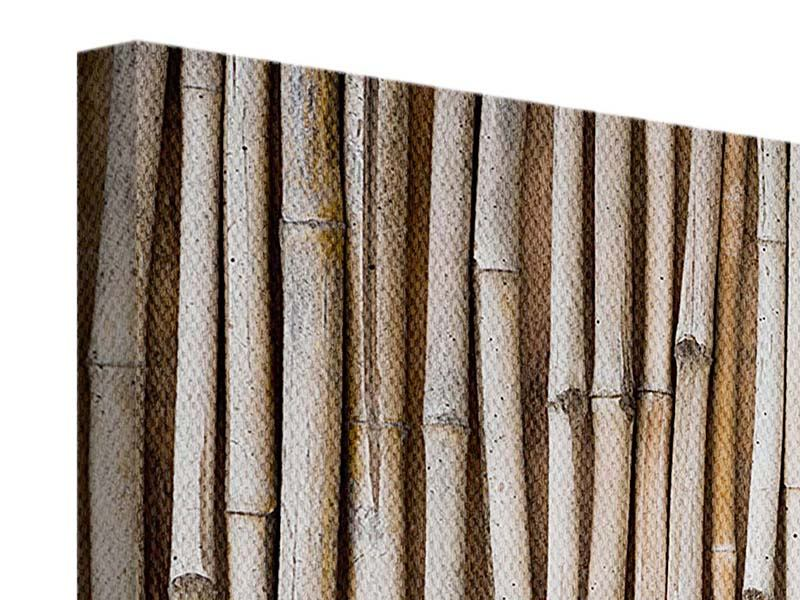 Leinwandbild 4-teilig Getrocknete Bambusrohre