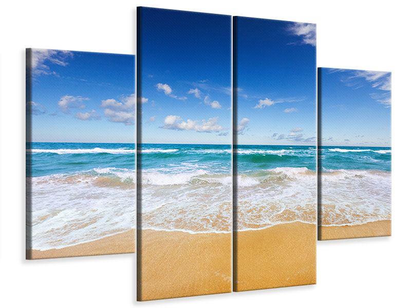 Leinwandbild 4-teilig Die Gezeiten und das Meer