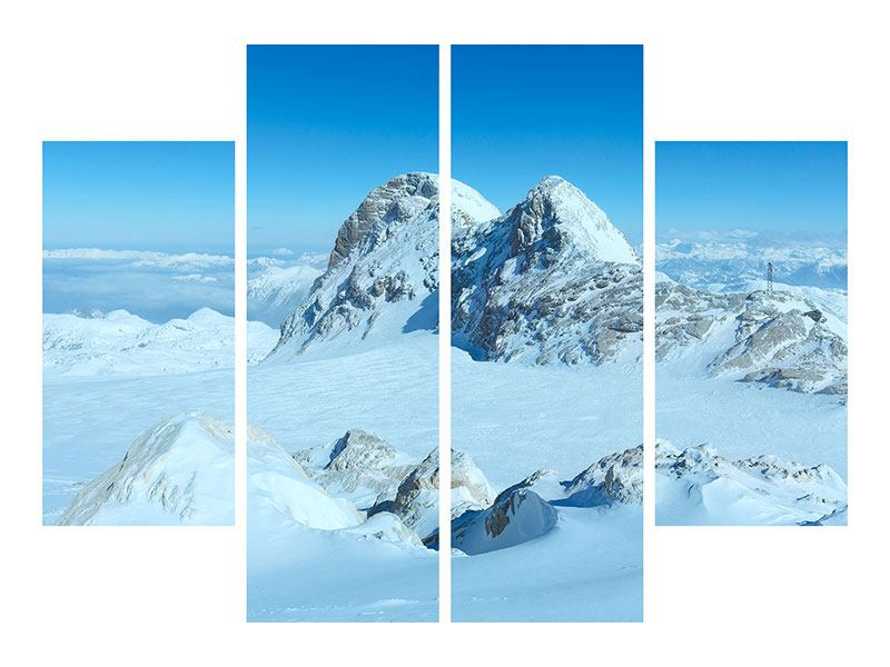 Leinwandbild 4-teilig Über den Wolken