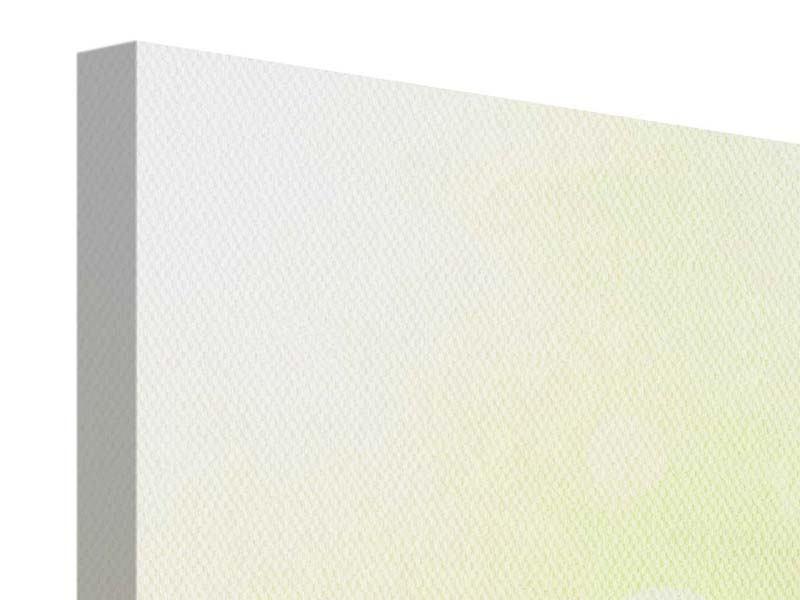 Leinwandbild 4-teilig Lilien-Perspektive