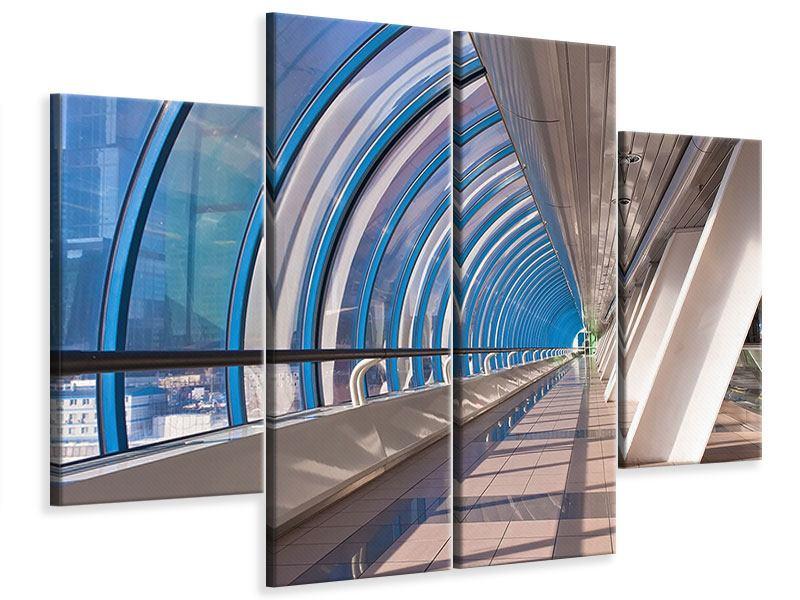 Leinwandbild 4-teilig Hypermoderne Brücke