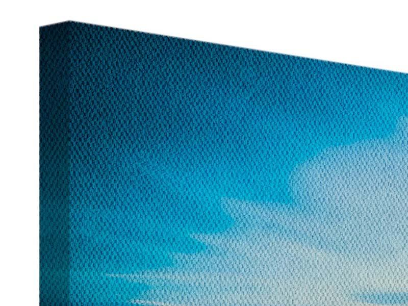 Leinwandbild 4-teilig Brückenimpression