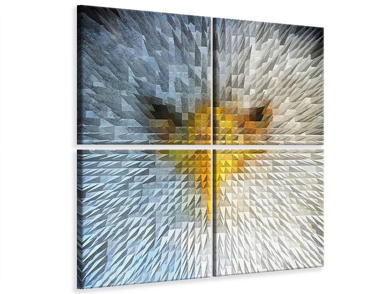 Leinwandbild 4-teilig Adler