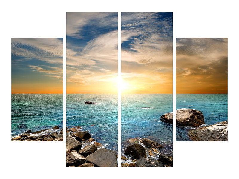Leinwandbild 4-teilig Meerwasser