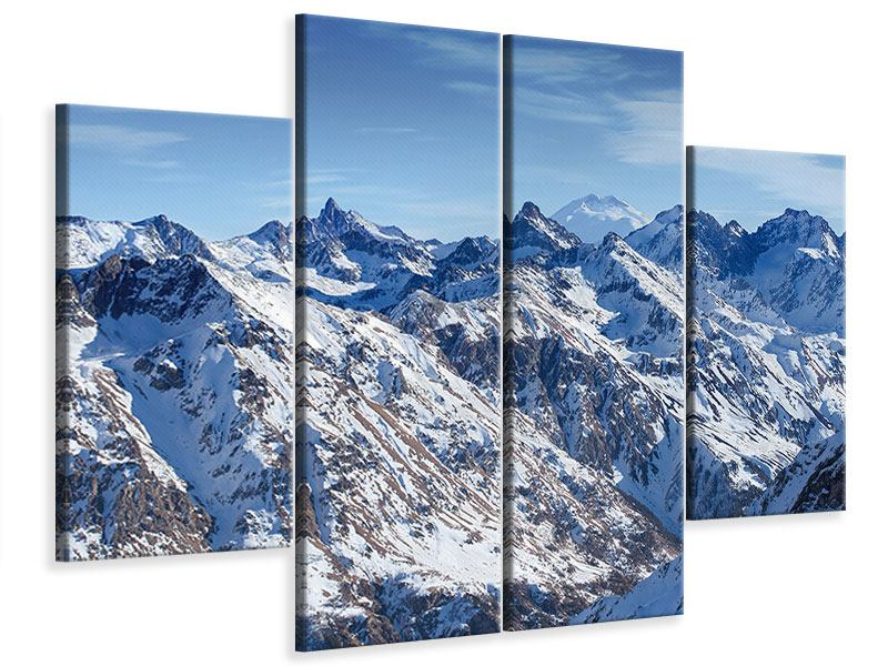 Leinwandbild 4-teilig Gipfelspitzen