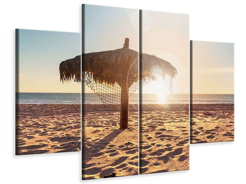 Leinwandbild 4-teilig Der Sonnenschirm