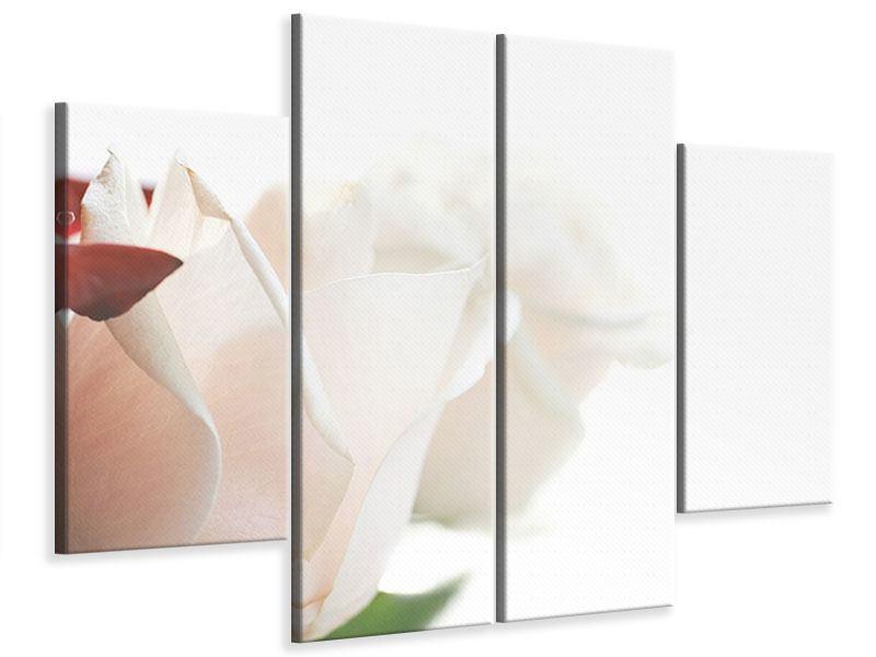 Leinwandbild 4-teilig Herrliche Rosen
