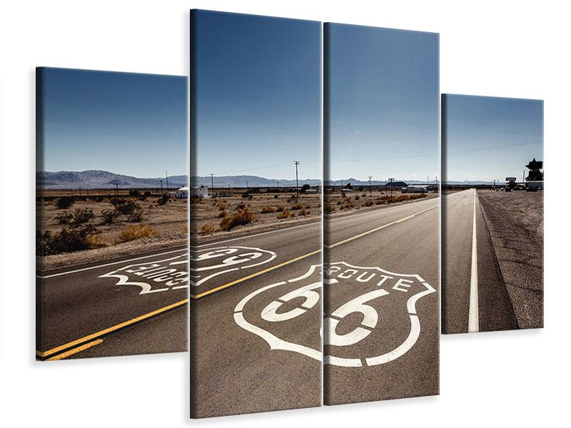 Leinwandbild 4-teilig Route 66