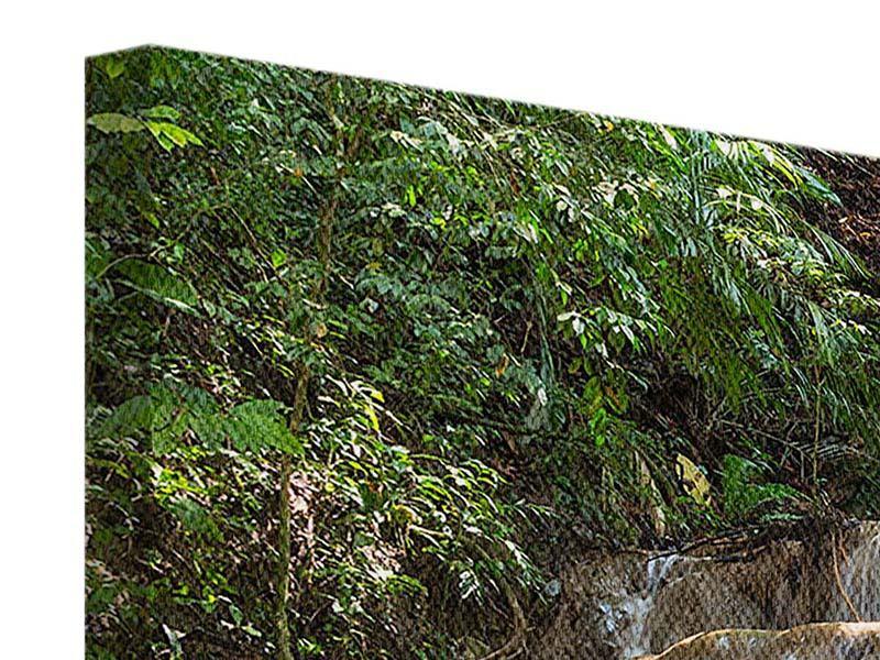 Leinwandbild 4-teilig Mexikanischer Wasserfall