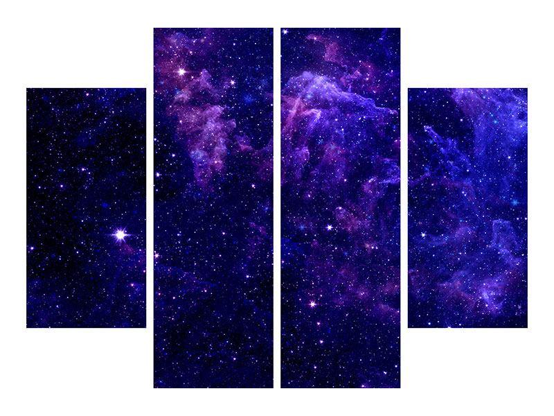 Leinwandbild 4-teilig Ein Himmel voll Sterne