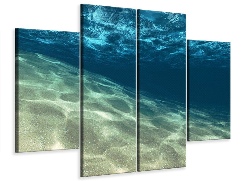 Leinwandbild 4-teilig Unter dem Wasser