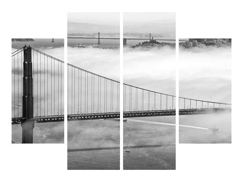 Leinwandbild 4-teilig Golden Gate Brücke
