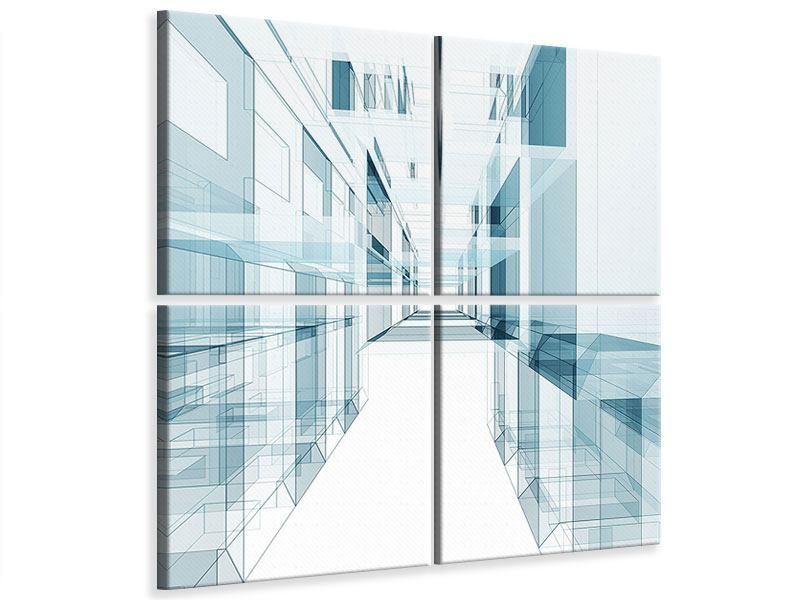 Leinwandbild 4-teilig Raum der Räume