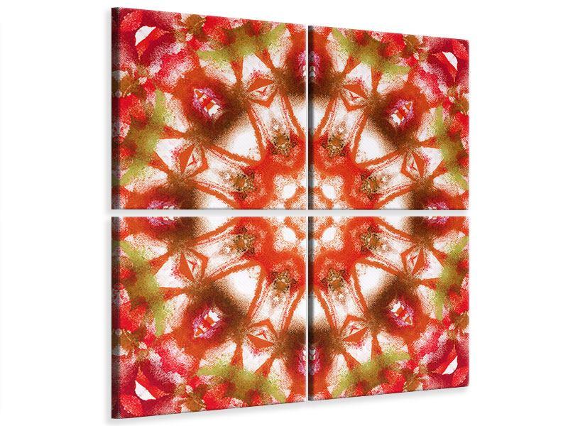Leinwandbild 4-teilig Geometrisches Gemälde