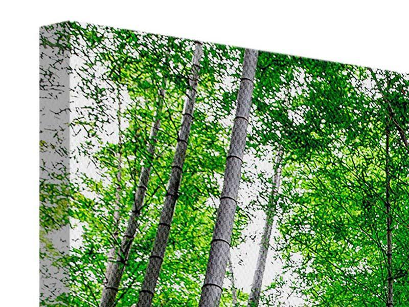 Leinwandbild 4-teilig Bambuswald